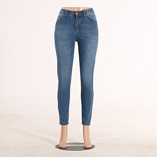 Jeans 8 Vintage Pantaloni Leggings Donna Scarni Skinny Strappati Ginocchio Stile Sentao qv7nTwAIx