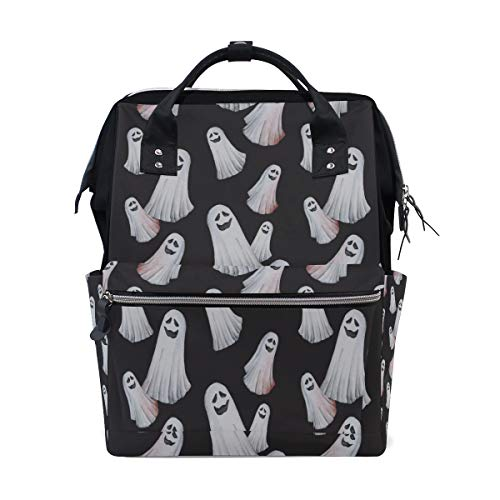 Happy Halloween Spirit Ghost Large Capacity Diaper Bags Mummy Backpack Multi Functions Nappy Nursing Bag Tote Handbag for Children Baby Care Travel Daily Women -