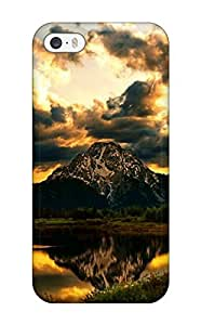 For Iphone 5/5s Premium Tpu Case Cover Dark Clouds Are Hanging Protective Case