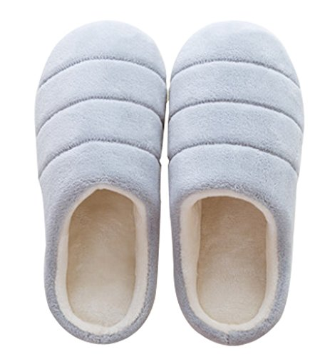 Cattior Womens Coral House Shoes Warm Slippers Gray nEWqS