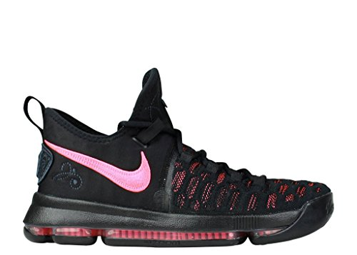Nike Zoom KD 9 Men's Basketball Shoes (9, Black/Hot Punch)