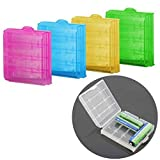 Leono 5PCS Battery Box Battery case for AAA and AA Batteries and Battery Cases (Without Battery, Random Colors)