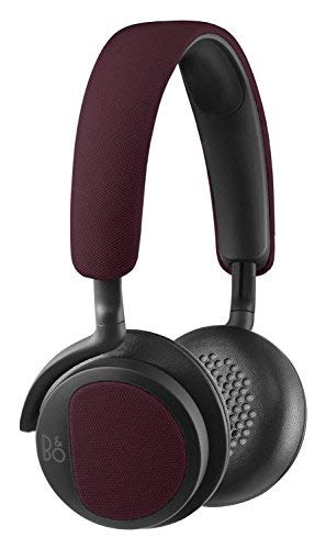 B&O Play by Bang & Olufsen Beoplay H2 On-Ear Headphone with Microphone (Deep Red)