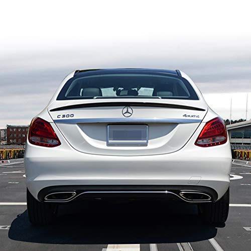 Rear Spoiler, Mercedes Benz W205 C-Class Sedan 2015-17 Spoiler Carbon Fiber, C200, C250, C400, C180, C300, C300 4MATIC, C350e, AMG C43, AMG C63, AMG C63S,