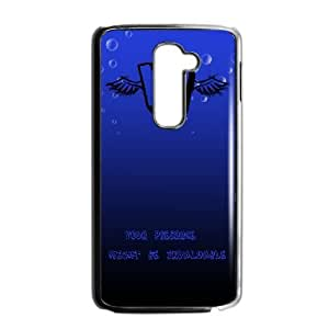 Durable Rubber Csaes LG G2 Black Cell Phone Case letter Ifjju Special Design Cover