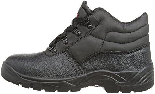 Blackrock Scarpe antinfortunistiche in pelle nera con punta e suola di acciaio