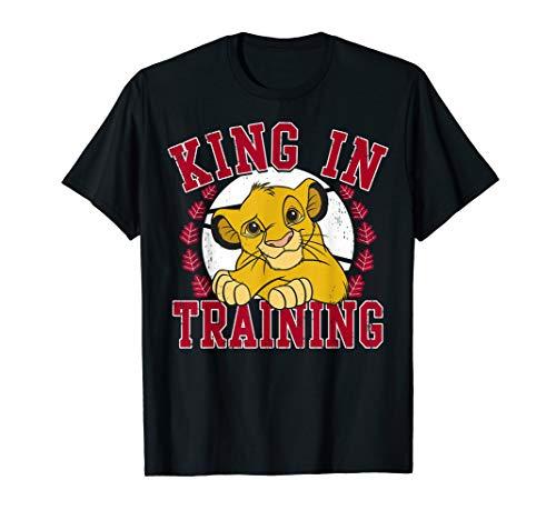 Lions Training Shirt - Disney Lion King Simba King In Training Circle Portrait T-Shirt