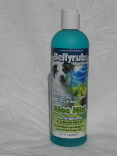 Bellyrubs Organic 12-Ounce Pet Shampoo, Aloe Mist