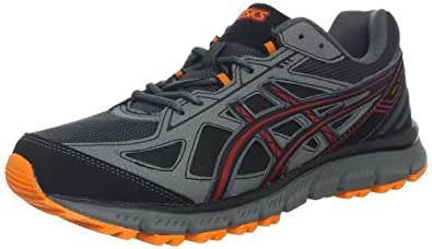 ASICS Men's GEL-Scram 2 Trail Running,Black/Onyx/Red,7 M US