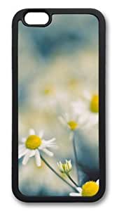 Chamomile flowers TPU Silicone Case Cover for iPhone 6 4.7inch Black
