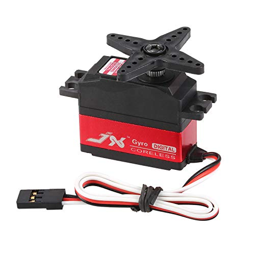(JX PDI-2535MG 25g Metal Gear Digital Coreless Tail Servo for RC 450 500 Helicopter Fixed-Wing Airplane Motor)
