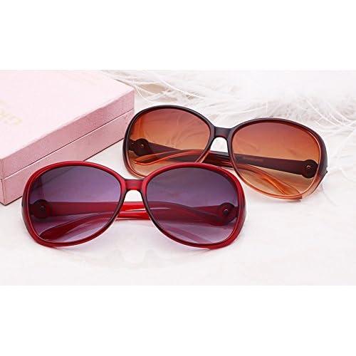 954cb70959 DaoRier polarizado gafas de sol Protección UV Gafas de sol retro marco  grande - Gafas para