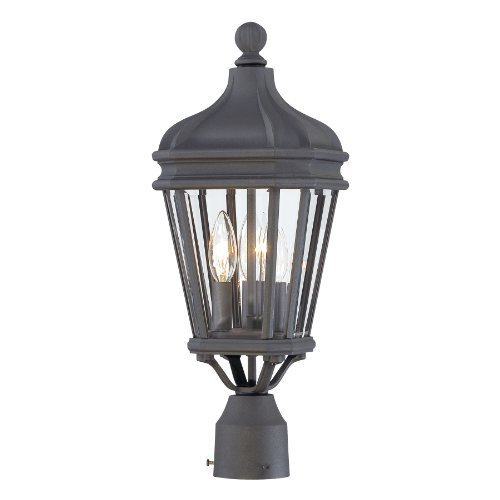 Minka Lavery Outdoor 8695-66, Harrison Cast Aluminum Outdoor Post Lighting, 40 Total Watts, Black by Minka-Lavery by Kovacs