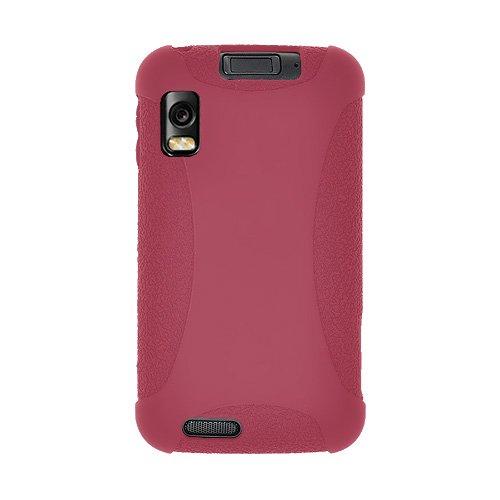Amzer - Funda Amzer Exclusivo de silicona Funda por Motorola Atrix MB860 - Castaño Rojo