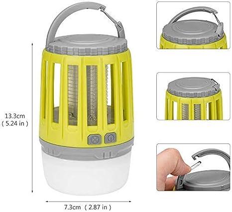 camping pesca Linkax Zanzariera Elettrica,Lampada Antizanzare,2 in 1 Lampada Anti Zanzara,USB Repellente per zanzare Lampada,Lanterna da Campeggio Adatto per uso Interno ed caccia