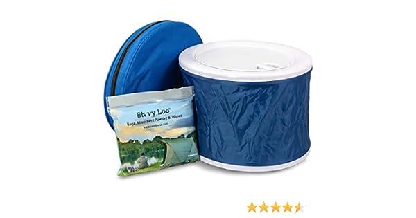 Soporta m/ás de 150 kg Bivvy Loo Inodoro port/átil Azul con Gorra Inodoros para Acampar al Aire Libre Inodoro para Acampar Inodoro para Festivales Inodoros port/átiles