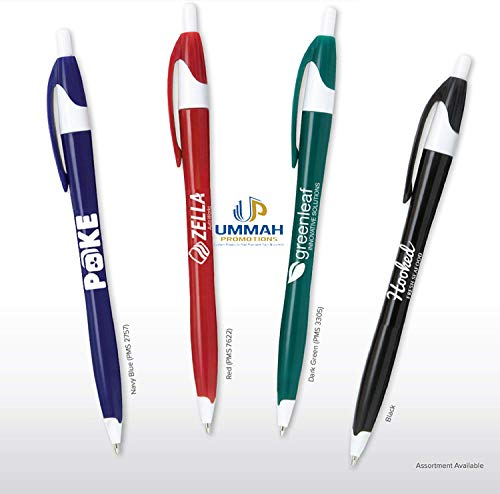 (250 Promotional Classic Solid Click Pen Printed with Your Logo or Message)