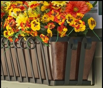 72'' Venetian Decora Window Box with Bronze Galvanized Liner by Windowbox.com