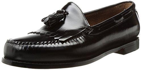 Gh Bas & Co. Heren Layton Kiltie Kwast Loafer Zwart Penseel Uit Leer