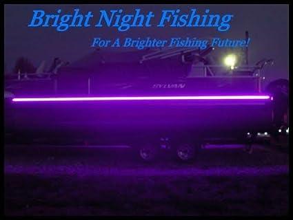 16ft Led Black Light Night Fishing Led Strip Uv Ultraviolet Fluorescent Boat Bass Fishing 12v Dc Priority Shipping Pontoon Kayak John Boat Fluorescent