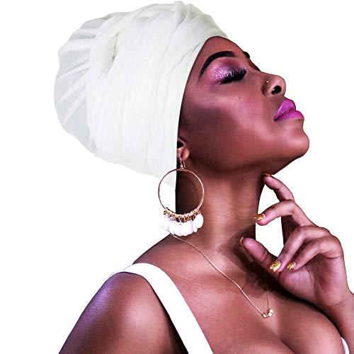 HOMELEX Chemo Headwear Turbans for Women Long Hair Head Scarf Headwraps Cancer Hats -