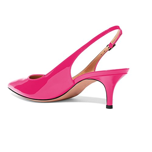Chaussures Mariage 5cm Edefs Moyen Femme Aiguille 6 Sexy Talon Rose Verni Escarpins Traivail Ca0UqC