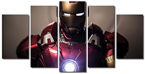 Picture Sensations Framed Canvas Art Print, Iron Man Marvel Avengers Age of ultron Super Hero - 60