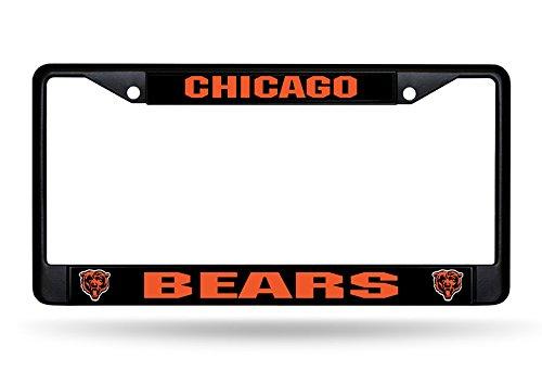 Rico Chicago Bears NFL Black Metal License Plate Frame