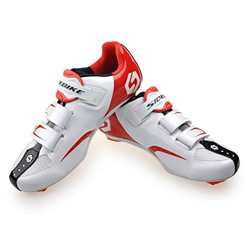 Vlo Votre Paire Route Taille Habituelle 1 Professionnelles veuillez Pour Au Dessus De Rouges Blanches Avec Sur Hommes Chaussures Cyclisme Choisir Respirantes Pdales Une qaFHn8W