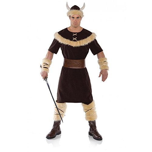 [Underwraps Costumes Men's Viking Costume, Brown/Tan, One Size] (Barbarian Warrior Costume)