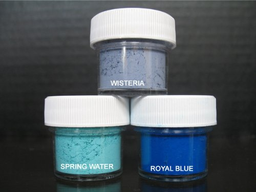 Water Royal Spring - Petal Dust Set of 3 Wisteria / Spring Water / Royal Blue