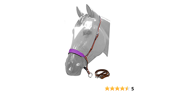 Barrel Rodeo Horse Sunflower Design Leather Noseband Tie Down Strap SHIPS FREE