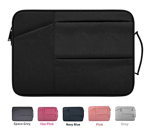 epellent Laptop Sleeve Case with Handle for 2016 MacBook Pro 15 Retina, HP Stream 14, HP Chromebook 14, Acer Chromebook 14, Dell Lenovo ASUS Toshiba Chromebook Notebook Case,Black (15.4 Inch Black Top Laptop Messenger)