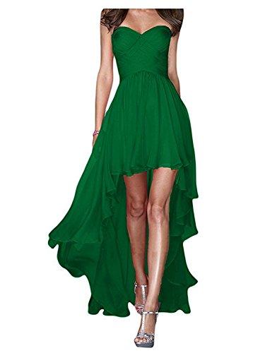 Partykleid Niedrig Chiffon Hoch Kleid JAEDEN Brautjungfernkleider Grün Abendkleid Cocktailkleid 5wXp0qO