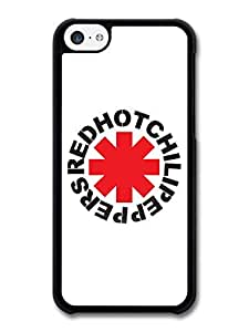 Red Hot Chili Peppers Rock Band RHCP Red Logo case for iPhone 5C A4481