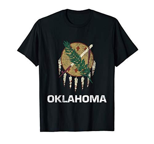 State of Oklahoma flag t-shirt gift for men, women & kids