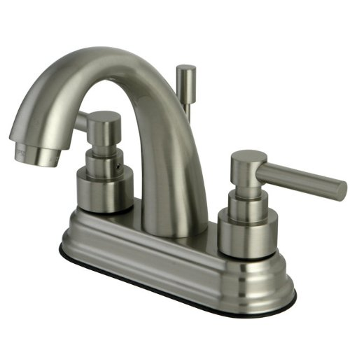 Kingston Brass KS8618EL 4-Inch Centerset Lavatory Faucet, Brushed Nickel
