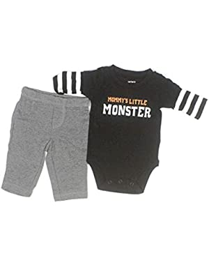 Carter's Mommy's Little Monster 2 Piece Pant Set