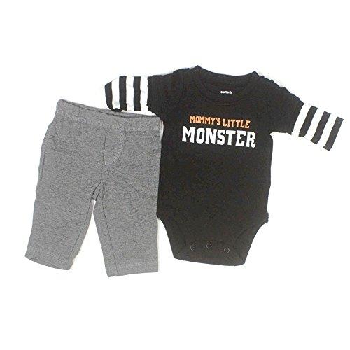 Carter's Mommy's Little Monster 2 Piece Pant Set (Newborn, Black)