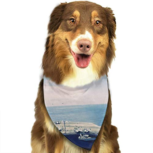 Dog Bandana Triangle Scarfs Puppy Bibs Accessories, Aircraft Carrier, for Dogs, Cats, Pet Birthday Party Gifts Supplies
