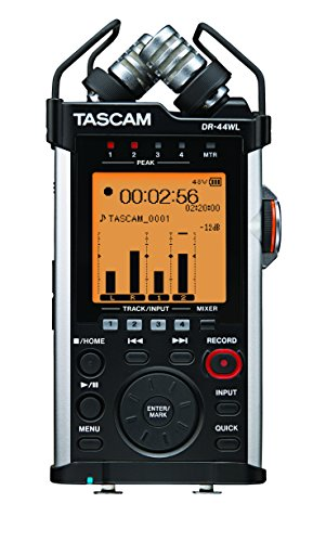 - Tascam DR-44WL Handheld Portable Recorder with WiFi