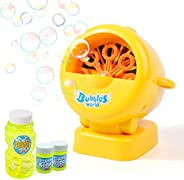 Kulariworld Bubble Machine, Automatic Bubble Blower Maker Toys for Kids Boys Girls Toddlers,Hundreds of Bubble