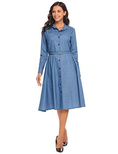 jean casual dress - 3