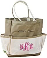 GiftsForYouNow Monogram Garden Tool Embroidered Tote Bag