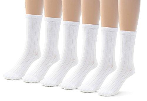Jefferies Socks Little Boys School Uniform Nylon Knee High 8-9.5 Hunter Pack of 6