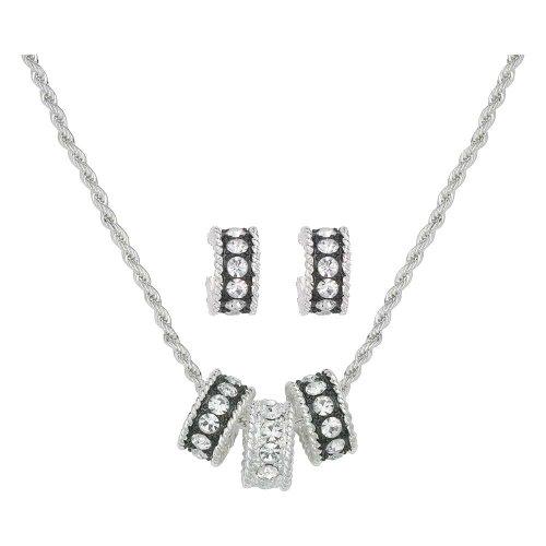 Montana Silversmiths Crystal Shine Jewelry Set (JS1032) - Montana Silversmiths Crystal