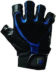 Luvas para levantamento de peso Harbinger Training Grip Non-Wristwrap com palma de couro acolchoada TechGel (p
