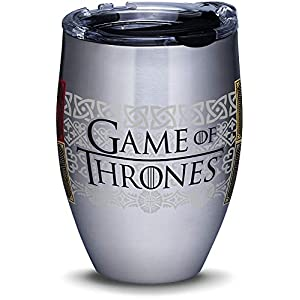 Tervis 1326511 HBO Game of Thrones - House Sigils Insulated Travel Tumbler & Lid, 12 oz - Stainless Steel, Silver