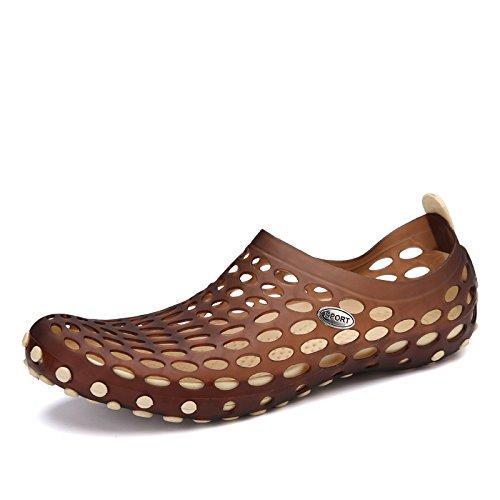 Komfortable, Atmungsaktiv, Modisch, Licht, Beach - Schuhe, Ein Loch Im Männer - Schuhe, Schuhe,,Khaki,Eu42