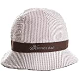 Rejected all traditions® Lovely Baby Girl Reversible Cotton Removabl Bowknot Sun Bucket Hat Cap - White